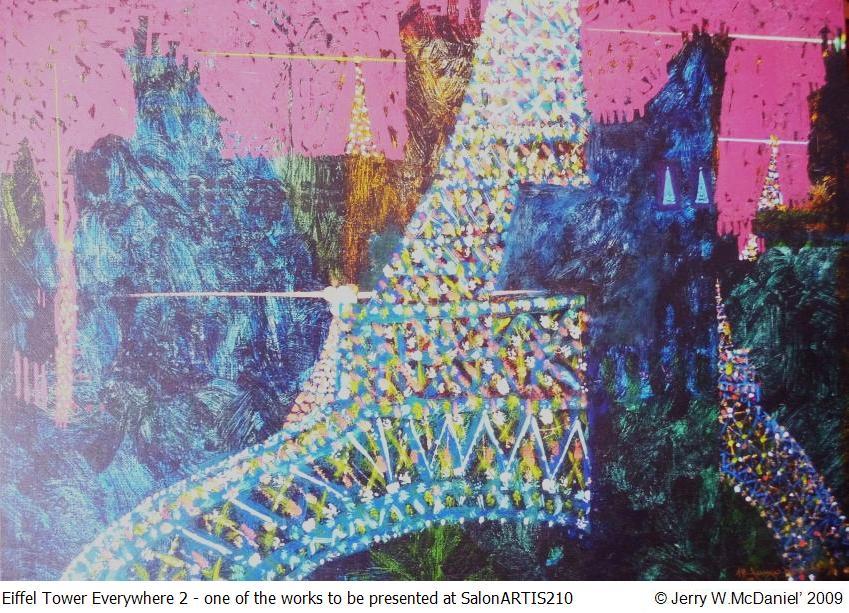 Eiffel Toower Painting Acrylic