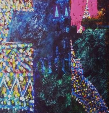 Detaliu din tabloul Turnul Eiffel Pretutindeni - Jerry W. McDaniel