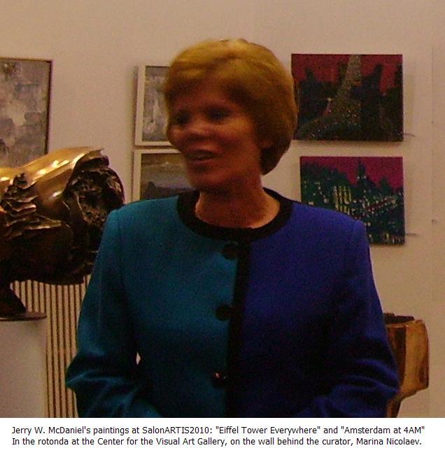 Jerry's Paintings at SalonArtis2010 and Marina Nicolaev